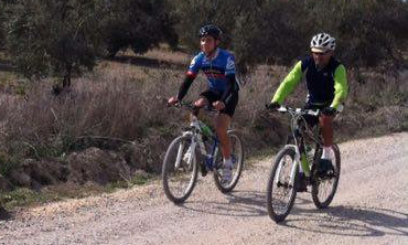 Families enjoying a cycling holidays in Andalucia